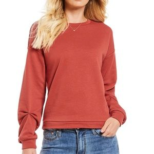 Pullover sweater with cute sleeves